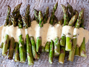 Grilled Asparagus With Orange-Oregano Mayonnaise